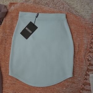 Missguided Light Blue Mini Skirt